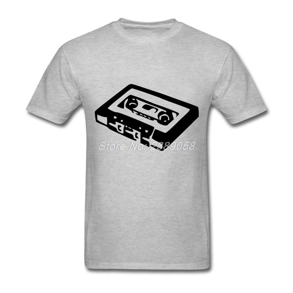 Design t shirt unique - Unique Mens Design T Shirt Audio Cassette Luxury Brand Tee Shirts Cheap Short Sleeve Mens T