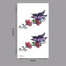 2017 style Christmas Party DIY Decorations tattoo tatoo for wedding decoration mariage bride to be party 3D Butterfly WM206
