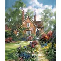 Full Square/Round DIY Diamond Embroidery House 5D Diamond Painting Rhinestone Mosaic Decor HYY