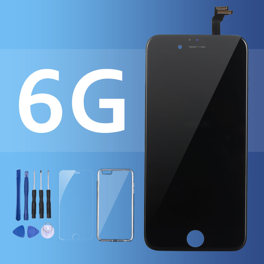 100% probado digitalizador reemplazo asamblea para iPhone 6 Pantalla LCD Pantalla táctil piezas 5S negro blanco Pantalla del Panel