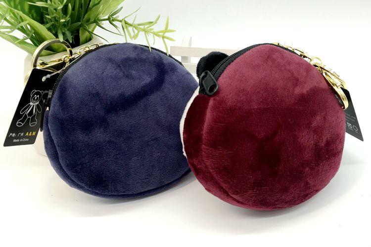 Кошелек для монет голова панды брелоки милые животные плюшевые женские сумки очаровательные аксессуары Подвеска мини кошелек брелок этнический подарок