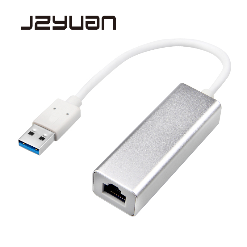 JZYuan USB 3.0 Gigabit Ethernet Extension Adapter USB to RJ45 Lan Network Card for Windows 10 8 7 XP Mac OS laptop PC Computer universal msata mini ssd to 2 5 inch sata 22 pin converter adapter card for windows2000 xp 7 8 10 vista linux mac 10 os new