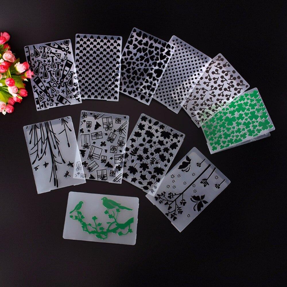 Plástico verde tréboles alegre puntos plantilla Relieves de papel ...