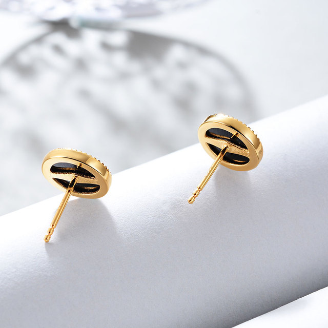 E Jewelry 925 Sterling Silver 12 Pointed star Earrings for Women Exquisite Round Black Star Gold Plated 925 Silver Earrings Set-in Earrings from Jewelry & Accessories on Aliexpress.com | Alibaba Group