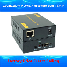 Higher than LKV373 HDMI splitter HDMI extender 120m through CAT5e/6 Rj45 cable 1080p HDMI IR extender over TCP IP like hdmi splitter
