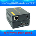 ZY-DT103 394ft HDMI Splitter Над IP Удлинитель 120 м Через CAT5e/6 Rj45 кабель 1080 P HDMI ИК Extender Над TCP IP, Как HDMI Splitter