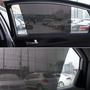 Image 5 - 2 pièces voiture pare soleil fenêtre couverture PVC UV protecteur voiture autocollants pare brise soleil ombre bouclier Auto fenêtre couvre rideau accessoires