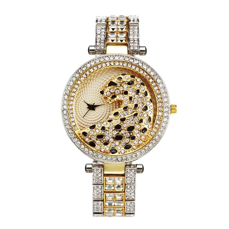 MISSFOX 30m Life Waterproof Gold Women Quartz Watch Fashion Bling Casual Ladies Watches Crystal Diamond Leopard for Women Clock (13)