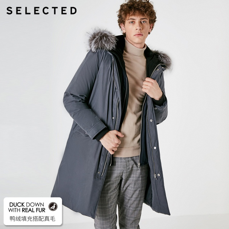 SELECTED blackrock's new winter long in the male fox collars warm   down     coat   S | 418412580