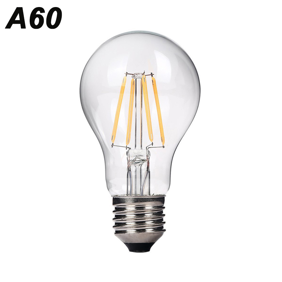 ynl antique retro a60 vintage led filament light e27 led bulb 220v glass bulb lamp 2w 4w 6w. Black Bedroom Furniture Sets. Home Design Ideas