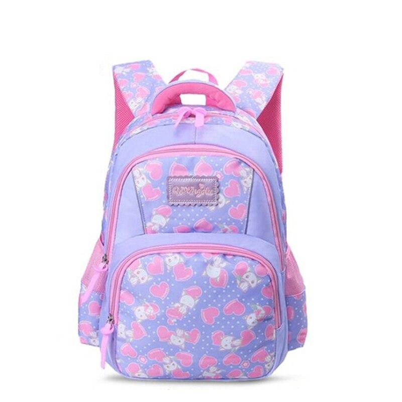 Sweet Cute Pink School Bags For Girls Orthopedic Schoolbag Cartoon Backpack