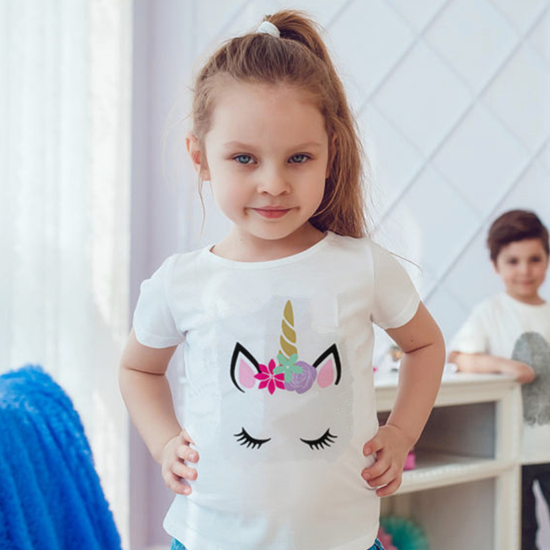 Unicorn T-Shirt Tops Tees Animal Baby-Girl Boys Cotton Children Brand-New Summer