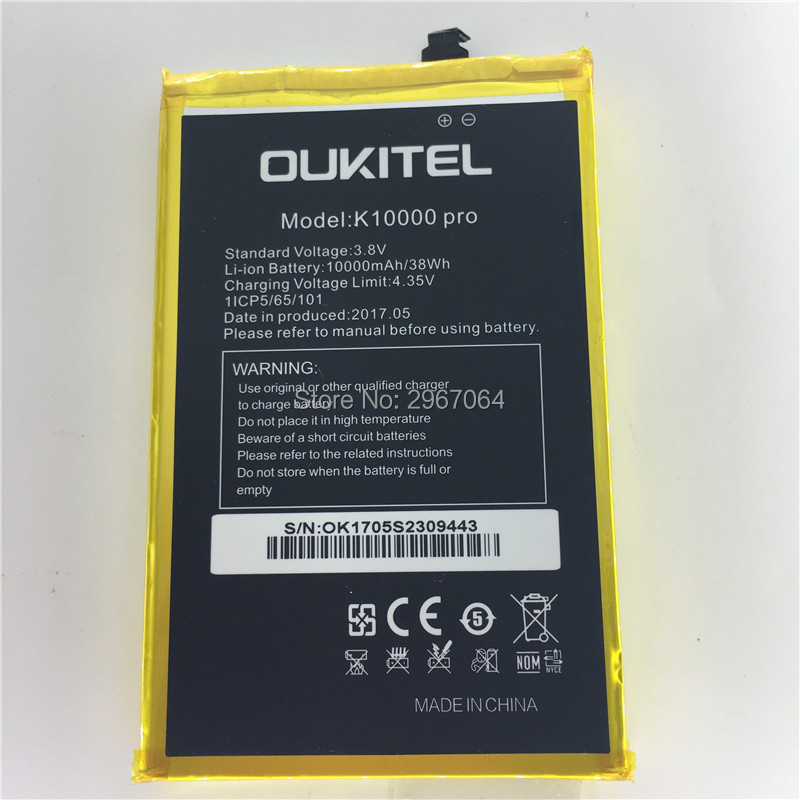 For OUKITEL K10000 pro battery 10000mAh Mobile phone battery Original battery Long standby time High capacit Mobile Accessories ...