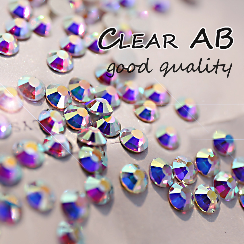 SS20 4.6 4.8mm Clear AB non hotfix Rhinestones Nail Art Crystals  1440pcs bag Gule glass strass glitters for DIY Nails Decoration-in  Rhinestones from Home ... cf814cdb39eb