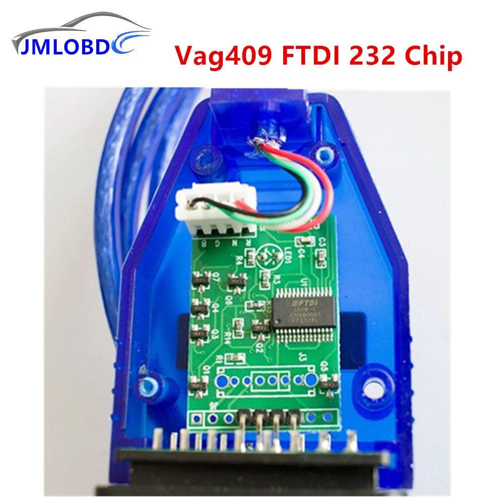 2018 Car Styling Vag409 Câble Lecteur de Code Vag 409 Ftdi 232 Puce Toute Vente Prix Outil De Diagnostic FT232RL 1 pcs Baisse gratuite
