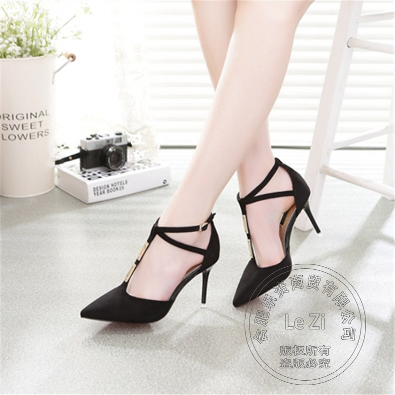 Stiletto Heels Casual Plain Comfortable Winkle Picker Pointy Soft Leather Pu Closed Toe Hasp Shoes font