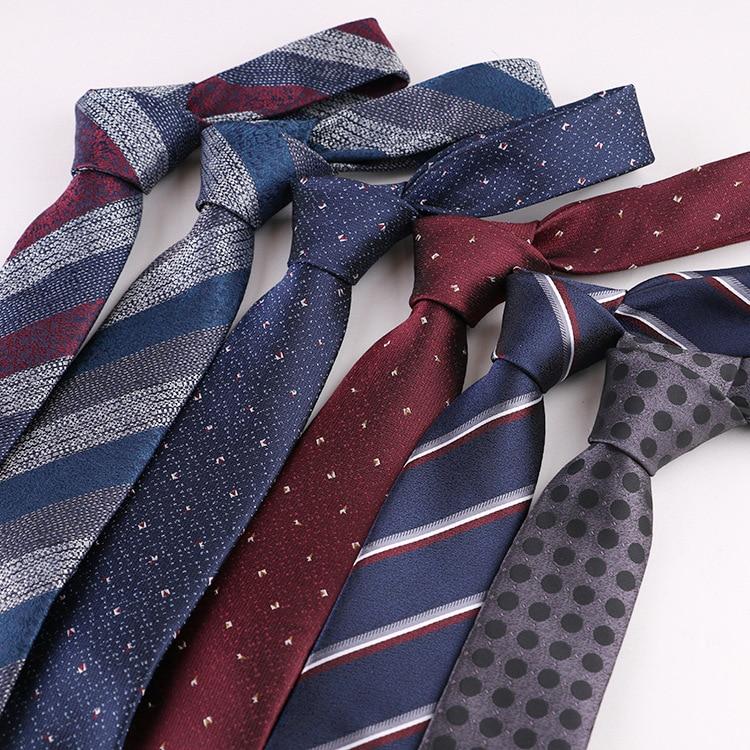 1200 Needles 7cm Mens Ties New Man Fashion Dot Neckties Corbatas Gravata Jacquard Slim Stripe Tie Business Green Necktie For Men