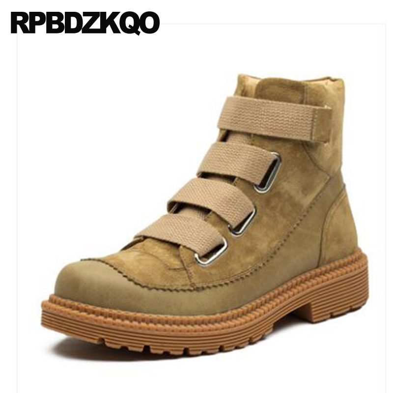 Army Shoes Combat Booties Short 2018 Genuine Leather Suede Casual Faux Fur Outdoor Military Ankle Winter Men Boots With Brown christmas faux fur fitted velvet short party dress with hat