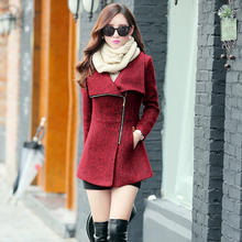 New Europe 2017 Autumn Winter Women's Temperament Woolen Jackets Coats Female Casual Clothing Fashion Women Slim Jackets Coats