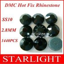 DMC 10ss 3mm Black rhinestone flat back Color 1440pcs lot f9236dcd207e