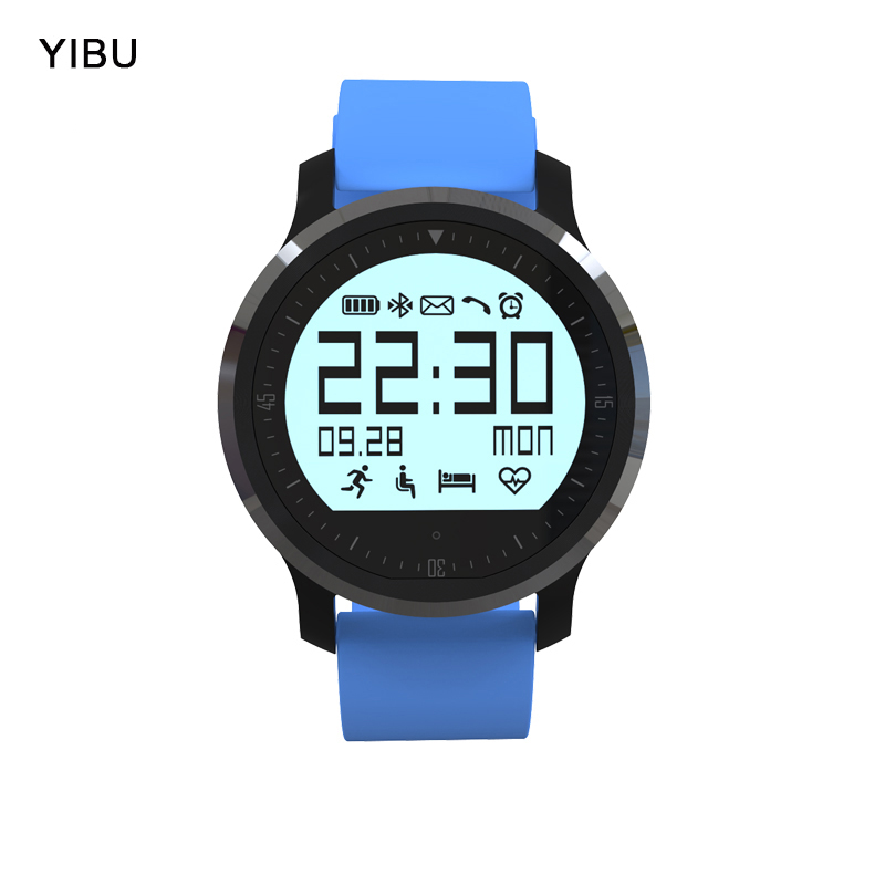 YIBU touch wristbands smartwatch IP67 waterproof bluetooth sport smart watch with heart rate tracker Passometer for