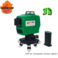 3D 12Lines Green Laser Levels Self Leveling 360 Horizontal And Vertical Cross Super Powerful Laser lines FREE SHIPPING!!!