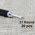 20 unids 21 Ronda agujas para maquillaje permanente pluma manual Semi manual de niebla pluma aguja R21 microblading niebla tatuaje de cejas pen cuchillas