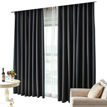 ZHH New Black Curtains Full Shade Thermal Insulated Blackout Curtain for BABY and SHIFT WORK PERSON