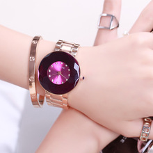 New Design Fashion Ladies Watches Famous Brand GUOU Elegant Rhinestone Female Quartz Watch Stainless Steel Waterproof Watch