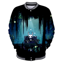 new hot PC game hollow Knight 3D baseball uniform for men women high quality Harajuku jacket clothing