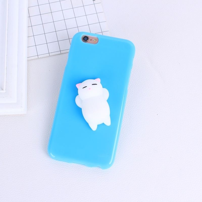 best sneakers 8af9f 7846c 3D Cute Squishy Bear Seal Phone Case For Iphone 5 5S Se 6 6S 7 7 Plus 6 6S  Plus 8 Plus Stress Reliever Bags Squeeze
