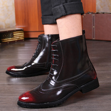 New Arrival Round Toe Work Shoes Men Lace Up Boots Genuine Leather High Top Boots Mens Dress Boots men