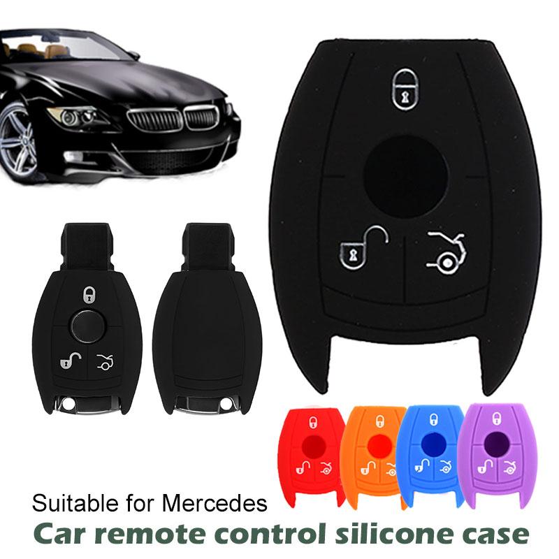Автомобильный чехол для пульта дистанционного управления складной гибкий автомобильный запасной чехол для ключа силиконовый чехол для ключей мягкий пульт дистанционного управления Fob крышка защита для Benz