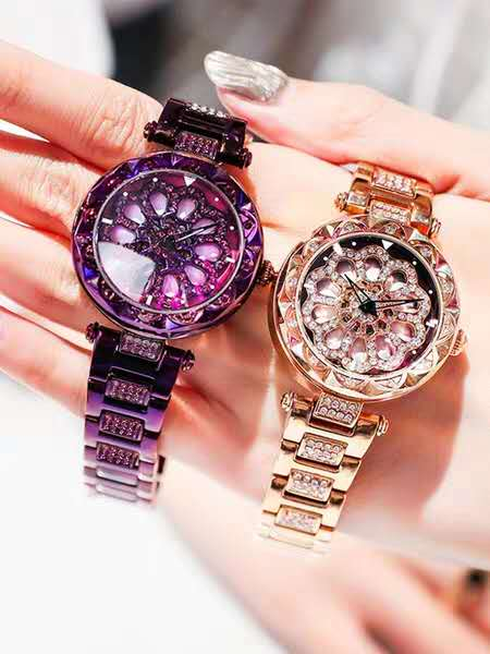 YOL03 Zircon Couple Watches Fashion Leisure Girls Watches Birthday Party Gifts for Boys