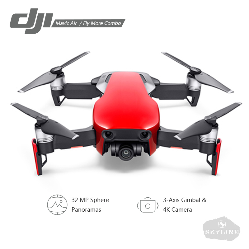 DJI Mavic Air/Mavic Air Fly Plus Combo drone 4 K 100 Mbps Vidéo 32Mp Sphère Panoranas 3 Axe caméra à support 4 KM télécommande dji