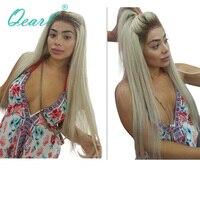 Qearl 4 #/60 # ломбер блондинка Glueless Синтетические волосы на кружеве парики шелковистая прямая реальных человеческих волос, парики, кружева браз