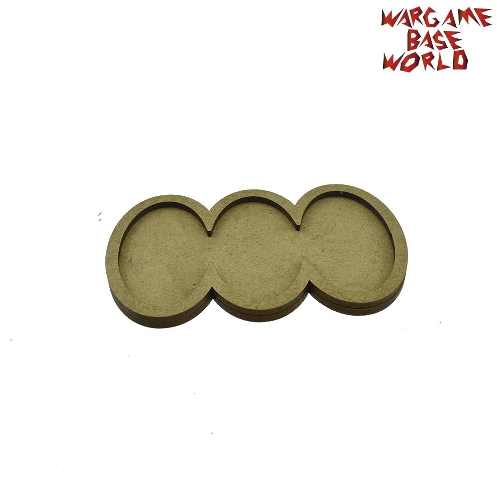 Wargame Base World - Movement Tray - AOS Oval 60X35mm - MDF Laser Cut