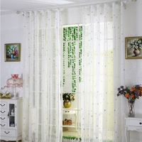 Flat Window Tulle Curtains 100% Polyester Woven Perspective Curtain Modern Home Decorative Cloth Curtain Customized Size Drape