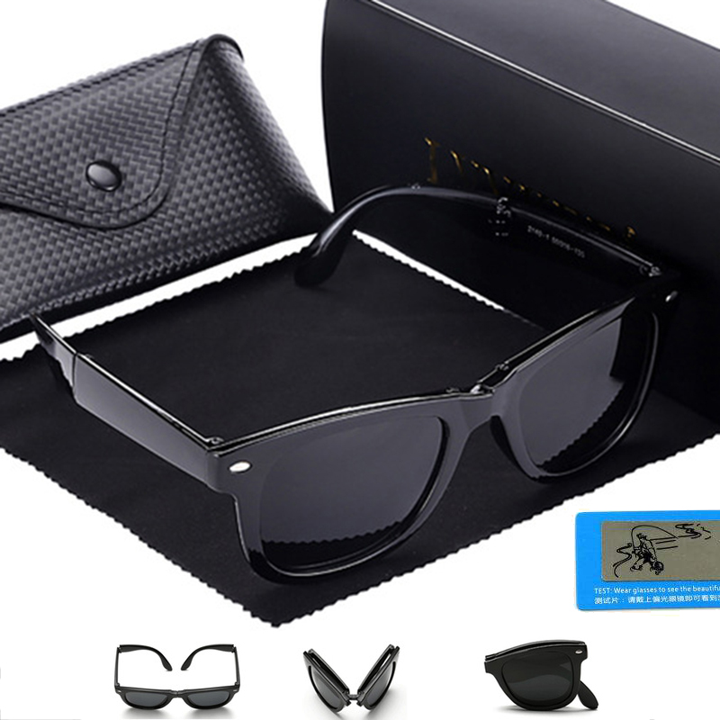 LVVKEE Classic Brand polarized folding Sunglasses Men Women driving - Apparel Accessories
