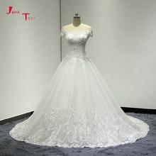 Jark Tozr A-line Wedding Dresses 2019 Ivory Tulle
