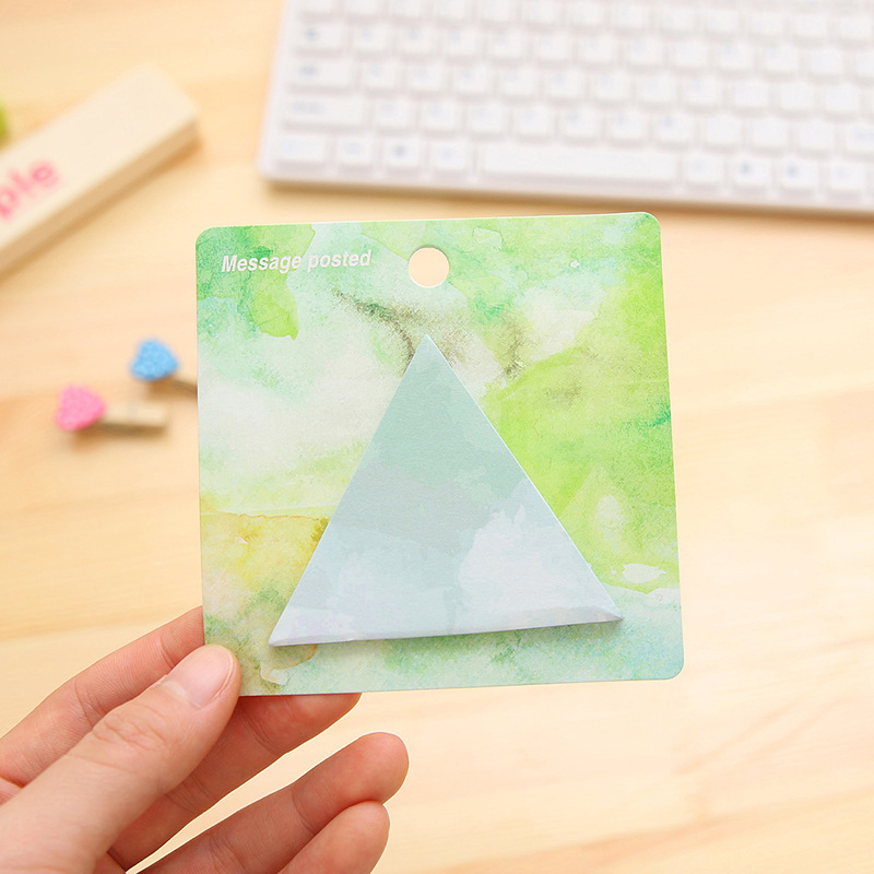 Creative shape convenience paste personal water color painting N post message note notebook Exquisite sticky memo pads for tips