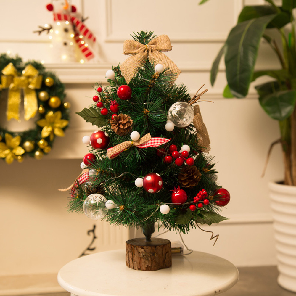 Finest New Year Artificial Flocking Christmas Tree Led Multicolor Lights Holiday Window Decor Diy Decorations Home With Made