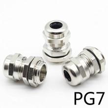 3 шт. из нержавеющей стали PG7 3,0-6,5 мм водонепроницаемый соединитель кабельный ввод