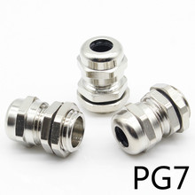 3 Pcs Stainless Steel PG7 3.0-6.5mm Waterproof Connector Cable