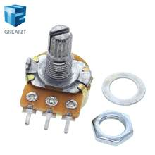 10PCS estéreo/pa/vedação potenciômetro WH148 B1k B2k B5k B10k B20k B50k B100k B250k B500k B1M 15mm 3 pinos com interruptor