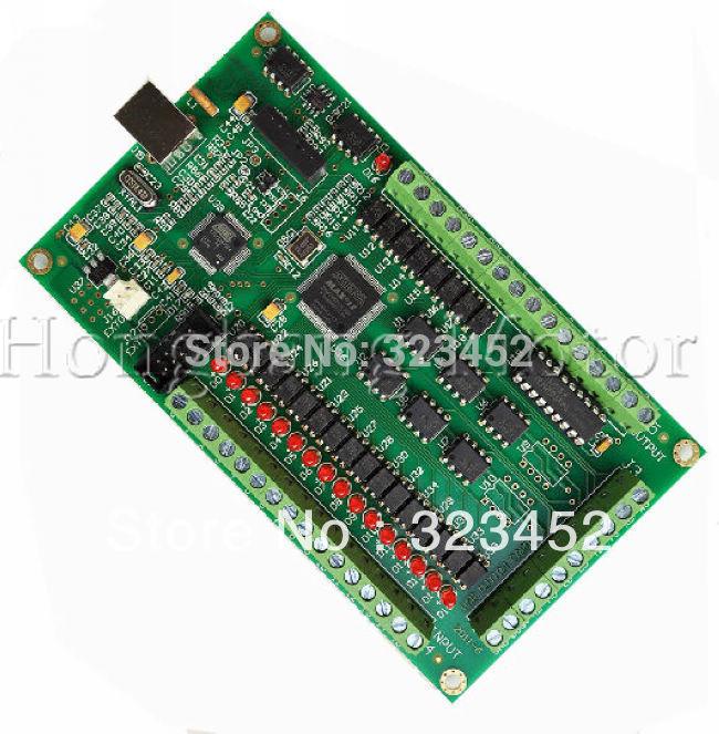 New 3 Axis CNC USB Card Mach3 200KHz Breakout Board Interface 4 axis mach3 cnc usb 200khz breakout board interface card for routing machine windows2000 xp vista 7