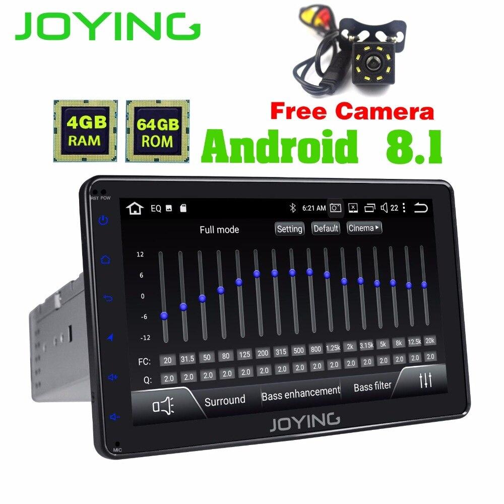Радуясь 4 Гб + 64 8 один Din Android 8,1 с бесплатной камерой заднего вида Авторадио магнитофон Поддержка видео выход/DSP/Apple Carplay