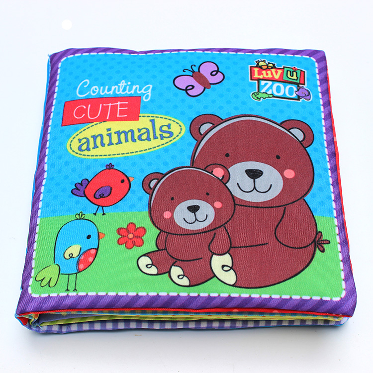 One piece Baby Fisher Animals counting book number 1~6 baby's first book infants educational cognitive learning toy,price low the icky bug counting book