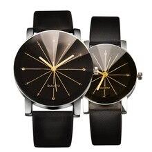 Высококачественные кварцевые часы, мужские женские часы с циферблатом, кожаный браслет, наручные часы, геометрические спортивные часы, часы с украшениями для влюбленных