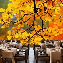 Большой современный фото фрески, листва отражение, природный ландшафт обои для гостиной диван Ресторан фоне стены